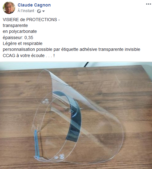 VISIERE de PROTECTION en polycarbonate super transparent
